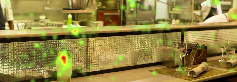 Eye tracking-studie visar vad gästerna fokuserar på under restaurangbesöket