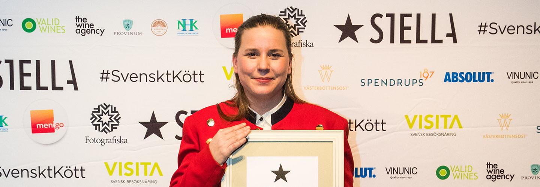 Frida Nilsson hyllad på Stellagalan