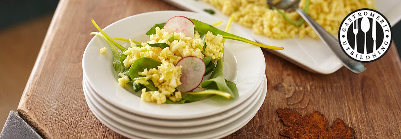 Vegetarisk mat för unga måltidsgäster
