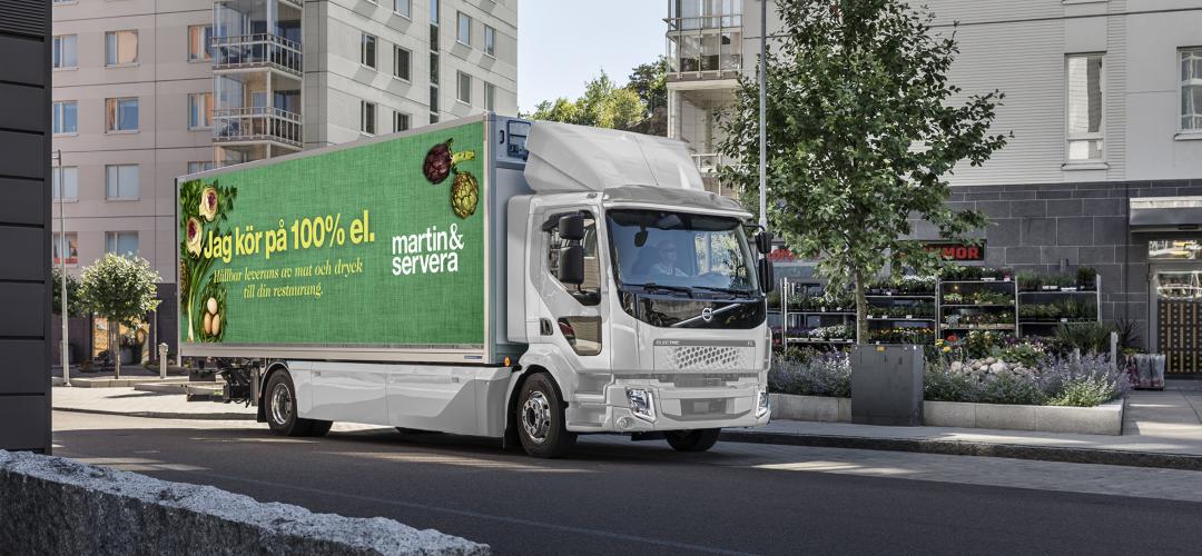 Martin & Servera bygger landets största elfordonsflotta för distribution till Sveriges restauranger