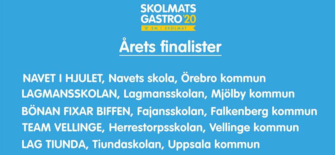 Fem lag tävlar i finalen i Skolmats-SM