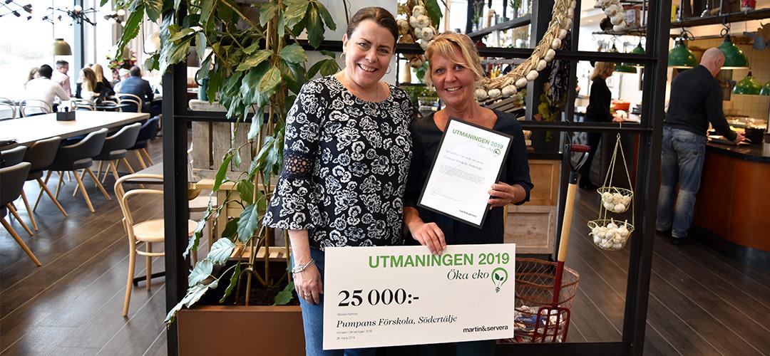 Pumpans förskola, Södertälje kommun - Vinnare i utmaningen 2019